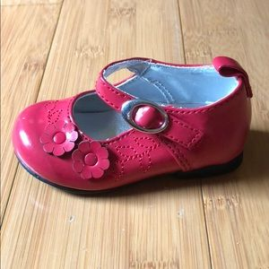 NWOT Koala Kids patent floral mary janes red 3